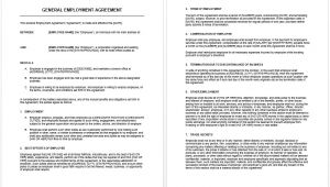 General Sales Contract Template General Agreement Template Microsoft Word Templates