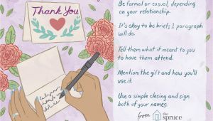 General Wedding Thank You Card Wording Wedding Thank You Note Wording Examples