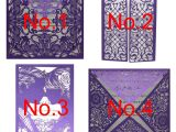 Generate Happy Birthday Card with Name Us 0 9 10 Off 10 Kits Purple Elegant Laser Cut Wedding Invitation Cards Greeting Card Customize Business with Rsvp Cards Decor Party Supplies Cards