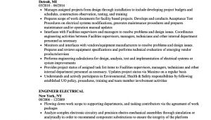 Generator Service Engineer Resume Engineer Electrical Resume Samples Velvet Jobs