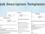 Generic Job Description Template Generic Job Description Template Beautiful Template