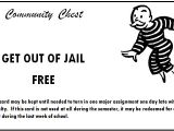 Get Out Of Jail Free Card Template Ac Language Arts Ms B Smith Mcclure Middle School