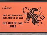 Get Out Of Jail Free Card Template Framed Get Out Of Jail Free Monopoly Chance Card Folk Art