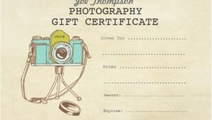 Gift Certificate Template for Photographers 12 Sample attractive Photography Gift Certificate