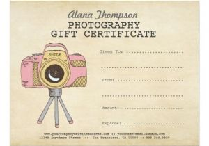 Gift Certificate Template for Photographers Photography Gift Certificate Printable Www Pixshark Com
