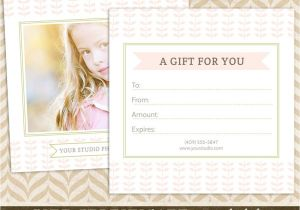 Gift Certificate Template for Photographers Photography Gift Certificate Template for Professional
