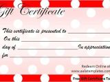 Gift Certificate Template Free Download Birthday Gift Certificate Templates New Calendar