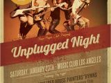 Gig Poster Templates Unplugged Gig Flyer Template Flyer Templates On Creative