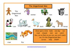 Gingerbread Man Story Map Template the Gingerbread Man Resource Pack by