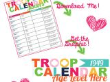 Girl Scout Calendar Template I Am Girl Scouts Off and Running