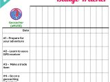 Girl Scout Calendar Template I Am Girl Scouts Updated All New Junior Badge Tracker