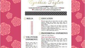 Girly Resume Templates Gold Pink Black Resume Girly Resume Pinterest by