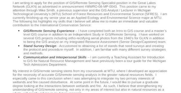 Gis Technician Cover Letter Basic Gis Technician Cover Letter Samples and Templates