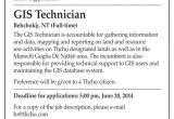 Gis Technician Cover Letter Employment Opportunity Gis Technician Tlicho
