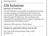 Gis Technician Cover Letter Employment Opportunity Gis Technician Tlicho