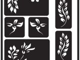 Glass Etching Templates for Free Over 39 N 39 Over Reusable Glass Etching Stencils 5 Quot X8 Amazon