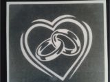 Glass Etching Templates for Free Wedding Ring Stencils for Etching On Glass Marriage