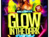 Glow In the Dark Party Flyer Template Free Glow In the Dark Halloween Flyer Template Party Flyer