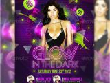 Glow In the Dark Party Flyer Template Free Glow In the Dark Party Club Flyer by Addictedtolucid On