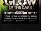 Glow In the Dark Party Flyer Template Free Glow In the Dark Party Flyer Template by Saltshaker911 On