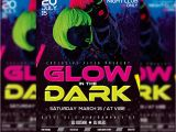 Glow In the Dark Party Flyer Template Free Glow In the Dark Premium Flyer Template Facebook Cover