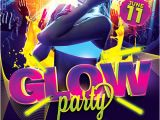 Glow Party Flyer Template Free Download the Uv Glow Party Flyer Template for Photoshop