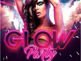 Glow Party Flyer Template Free Glow Party and Club Flyer Template Awesomeflyer Com