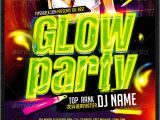 Glow Party Flyer Template Free Glow Party Flyer Template Psd Graphicriver