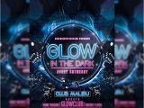Glow Party Flyer Template Free Glow Party Premium Psd Flyer Template Exclsiveflyer