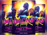 Glow Party Flyer Template Free Uv Glow Party Flyer Template Flyer Templates Creative