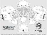 Goalie Mask Design Template Mask Templates the Goalie Archive