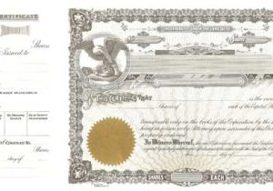 Goes Stock Certificate Template Blank Certificates Corporation Goes 50