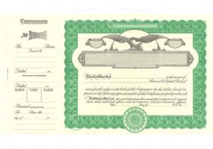 Goes Stock Certificate Template Blank Stock Certificate Template Employee Of the Month