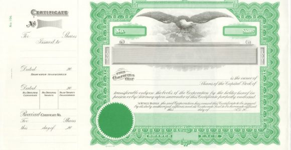 Goes Stock Certificate Template Common and Preferred Stock Goes 196