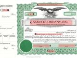 Goes Stock Certificate Template Corporate Stock Certificate form Goes 721 Certificate