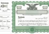 Goes Stock Certificate Template Goes Certificates Stock Certificates Llc Certificates