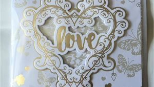 Golden Wedding Anniversary Card Mum and Dad 50th Golden Wedding Anniversary Mam and Dad Card to A
