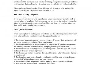 Good Cover Letters for Cv How to Write A Good Cover Letter Gplusnick