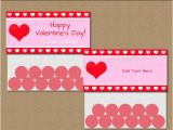 Goodie Bag Tags Template Valentine Bag toppers Valentine Bag Labels Valentine