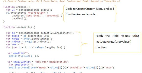 Google Apps Email Templates How to Create Custom Menu Function Email Template In