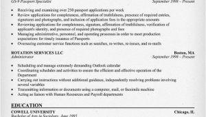 Government Job Resume format Government Jobs Resume Example Resumecompanion Com