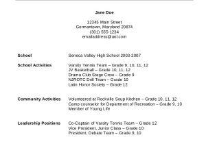Grade 12 Student Resume 11 High School Student Resume Templates Pdf Doc Free