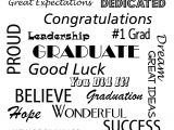 Graduation Thank You Card Messages Congratulations Graduate Poster to Frame for that Special
