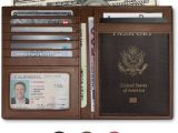 Green Card Name Doesn T Match Passport Rfid Blocking Leather Passport Holder for Men and Women Brown