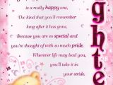 Greeting Birthday Card for Daughter 18th Happy Birthday Greeting Card Lovely Verse Embellished