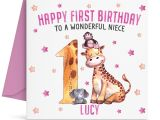 Greeting Birthday Card for Daughter Details About Personalised Girls First 1st Birthday Card Granddaughter Niece Daughter Sister