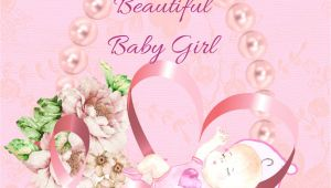Greeting Card Baby Girl Born Baby Girl Congratulations In 2020 Congratulations Baby Girl