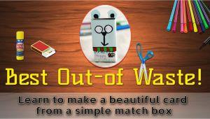Greeting Card Banane Ka Tarika Simple How to Make A Greeting Card From Waste Material