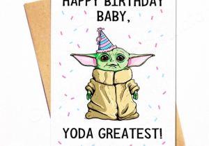 Greeting Card Birthday for Boyfriend Baby Yoda Birthday Card D Yoda Happy Birthday Happy