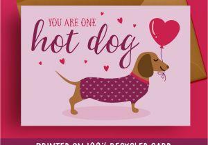 Greeting Card Birthday for Boyfriend Birthday Card Boyfriend Dachshund Birthday Card Sausage